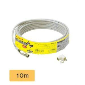 マスプロ 同軸ケーブル 75Ω 10m  S4C10MA(H)-P|seiko-techno