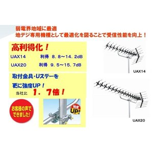 地デジ 高性能UHFアンテナ DXアンテナ 弱電界用 20素子 UAX20P2 在庫あり即納|seiko-techno|03
