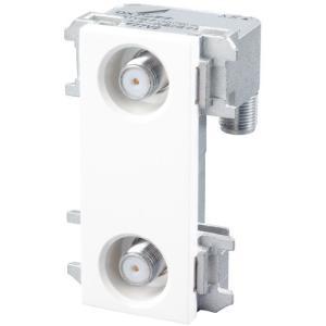 DXアンテナ 壁面テレビ端子 2端子形(フィルター付) 4K・8K対応 WU77F2S メール便で送料無料|seiko-techno
