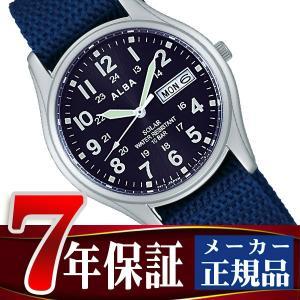 SEIKO ALBA セイコー アルバ ソーラー メンズ 腕時計 ペアモデル ミリタリー AEFD556|seiko3s