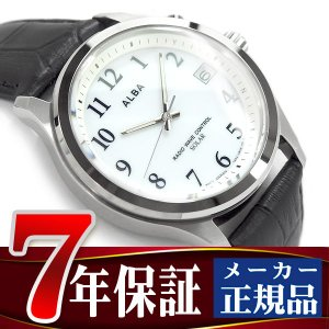big sale 7bf78 1cb49 SEIKO ALBA セイコー アルバ ソーラー 電波 メンズ 腕時計 10気圧防水 電波時計 ホワイト AEFY506