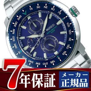 SEIKO WIRED セイコー ワイアード クオーツ 腕時計 メンズ ソリディティ SOLIDITY ブルー AGAT416|seiko3s