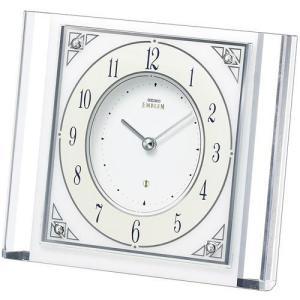 SEIKO EMBLEM セイコー エムブレム エレガント 置時計 スワロフスキー HW565W■機...