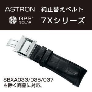 アストロン ASTRON 7Xシリーズ 純正替えベルト かん幅24mm 標準200mmタイプ ブラックベルト シルバー尾錠 R7X01AC|seiko3s