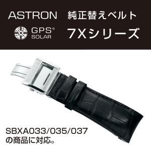 アストロン ASTRON 7Xシリーズ 純正替えベルト かん幅24mm 標準200mmタイプ ブラックベルト シルバー尾錠 R7X03AC|seiko3s