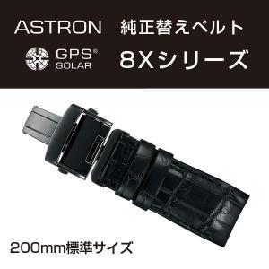 アストロン ASTRON 8Xシリーズ 純正替えベルト かん幅22mm 標準200mmタイプ ブラックベルト ブラック尾錠  R7X06DC|seiko3s