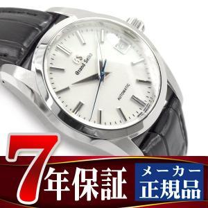GRAND SEIKO グランドセイコー メカニカル 手巻き付き メンズ 腕時計 ホワイトダイアル ブラックレザーベルト SBGR287 seiko3s