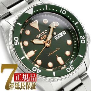 セイコー5スポーツ スポーツスタイル SEIKO 5 自動巻き 手巻き付き 腕時計 流通限定モデル グリーン ダイアル メタル ベルト SBSA013|seiko3s