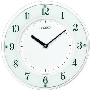 SEIKO セイコー 薄型 ソーラープラス 木枠 電波掛時計 SF505W■機 能 ・電波修正機能(...