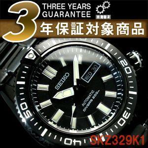 逆輸入SEIKO Superior STARGATE セイコー メンズ ダイバーズ 腕時計 オールブラック ステンレスベルト SKZ329K1【ネコポス不可】|seiko3s