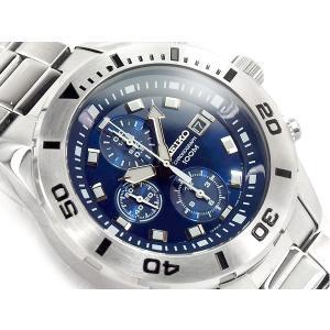 正規品 逆輸入 SEIKO セイコー クォーツ 高速クロノグラフ メンズ 腕時計 ブルーダイアル シルバー ステンレスベルト SNDD97P1 ネコポス不可 seiko3s