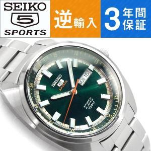 逆輸入 SEIKO5 セイコー5スポーツ 自動巻き 手巻き付き機械式 メンズ 腕時計 SRPB13K1 seiko3s