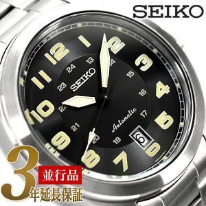 SEIKO 逆輸入セイコー メンズ メカニカル 自動巻(手巻つき) 腕時計 ブラック  SRPC85K1|seiko3s