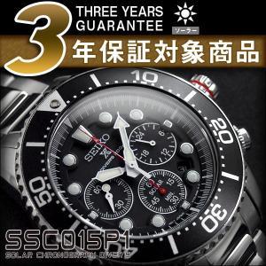 逆輸入SEIKO セイコー クロノグラフ メンズ腕時計 ダイバーズ ソーラー ブラックダイアル シル...