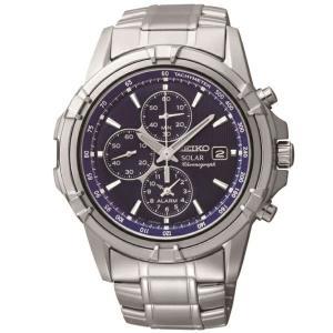正規品 逆輸入 SEIKO セイコー センタークロノグラフ アラーム機能搭載 クォーツ メンズ 腕時計 ブルーダイアル シルバー ステンレスベルト SSC141P1 seiko3s