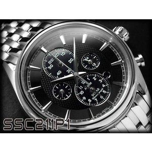 逆輸入SEIKO セイコー ソーラー メンズ クロノ 腕時計...