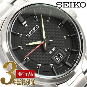 SEIKO 逆輸入セイコー メンズ クォーツ 腕時計 ブラック  SUR269P1|seiko3s