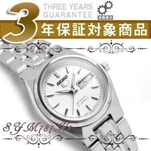 逆輸入SEIKO 5 セイコー5 自動巻き+手巻き レディース腕時計 ホワイトダイアル シルバーステンレスベルト SYM787K1|seiko3s