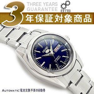 逆輸入SEIKO 5 セイコー5 自動巻き+手巻き レディース腕時計 ブルーダイアル シルバーステンレスベルト SYMK15K1【ネコポス不可】 seiko3s