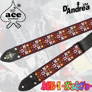 D'andrea《ダンドレア》  Ace Guitar Straps (ACE-1/X's & O's) seikodo