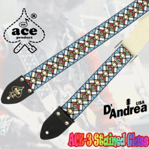 D'andrea《ダンドレア》  Ace Guitar Straps (ACE-3/Stained Glass) seikodo