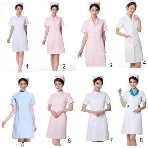 ナースウエア医用ワンピース白衣女性医療用作業着・服手術衣・オペ着看護介護