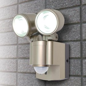 (乾電池) LED×2灯・防雨センサーライト (単2形×4本) ESL-302BT|seileds