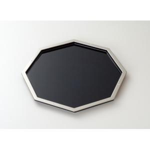 プラチナスワロ  八角盆 おもてなし プラチナ箔 箔一 来客用   HAKUICHI STYLE 金沢箔 風水|seileds