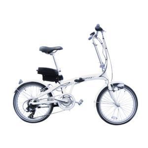 20インチ折りたたみ電動アシスト自転車 SUISUI スイスイ 軽量アルミホイール採用スポーツタイプ ホワイト 6段変速ギア|seileds
