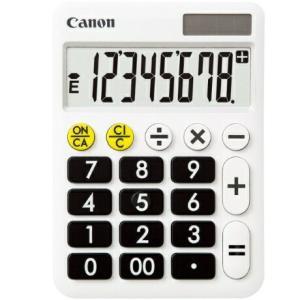 電卓 くっきりはっきり電卓 ミニ卓上タイプ 8桁 LF-80 Canon|seirindou