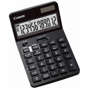 ビジネス電卓 チルト式卓上タイプ 12桁 KS-1220TU-BK Canon|seirindou