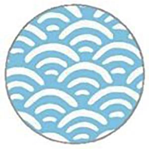 コースター 厚紙 丸形 青海波 10枚入 越前の和紙 ろまん|seirindou
