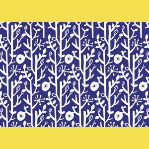 ランチョン しきがみ 越前の和紙 北欧柄 ツリー青  5枚入【在庫限り】タイミングによってはご用意できない場合がございます。|seirindou