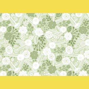 ランチョン しきがみ 越前の和紙 北欧柄  花畑 緑  5枚入【在庫僅か】タイミングによってはご用意できない場合がございます。|seirindou