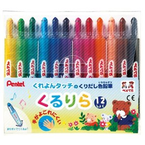 くるりら 12色 ぺんてる くりだし式色鉛筆 seirindou