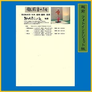 越前和紙 フォトインクジェット 特厚 A4(5枚) 0.35mmME-203-A4|seirindou