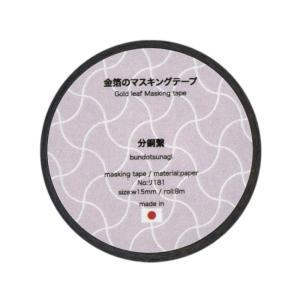 金箔のマスキングテープ 分銅繋|seirindou