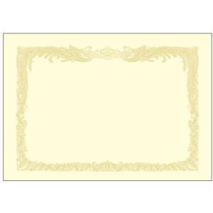 賞状用紙 OA賞状用紙 クリーム A3判 縦書用 10枚入り タカ印 10-1087|seirindou