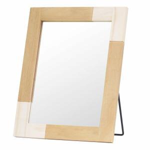 鏡 ミラー おしゃれ 卓上 卓上鏡  卓上ミラー メイク メイク鏡 化粧鏡 かがみ スタンド 玄関 ...