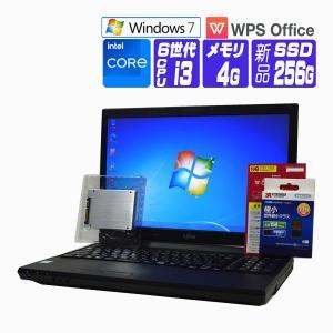 中古パソコン ノート Windows 7 WPS Office  富士通 FMV LIFEBOOK A553 15.6 HD液晶 Celeron B730 1.80G メモリ:4G HD:320G DVDROM Win7リカバリ作成機能 DtoD|seishinsj