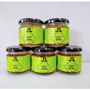小田原屋 食べるオリーブオイル 単品 5本セット 110g 面白いラベル 調味料 ごはんのお供 まと...