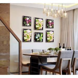 壁飾り 観葉植物 お花壁飾り 壁掛けインテリア ウォールディスプレイ フェイクグリーン 光触媒 壁面飾り オーナメントパネル  hn2