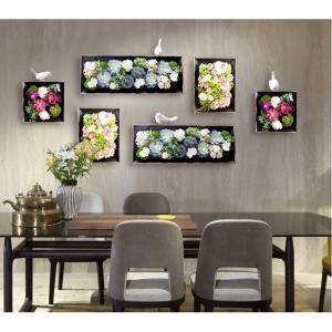 お部屋の空気を綺麗にする効果!! 壁面にグリーンやお花のある暮らし〜  グリーンパーツは光触媒加工を...