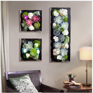 壁飾り 観葉植物 お花壁飾り 壁掛けインテリア ウォールディ...