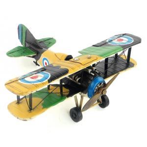 ソッピース キャメル 複葉機 UK Camel ブリキ製 模型飛行機 ビンテージ (全て手作り) m...
