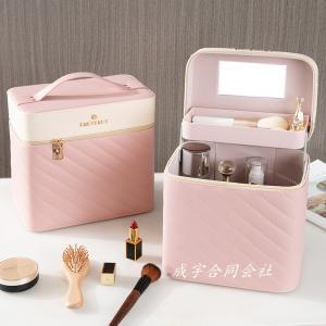 大容量 メイクボックス バニティケース メイクポーチ コスメ 化粧ボックス 化粧箱 鏡付き 化粧ケース 工具箱 収納 機能的 持ち運び可 小物入れ seiu