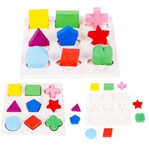 型合わせ パズル 3点セット モンテッソーリ 型はめ 知育玩具 0歳〜4歳 おもちゃ 赤ちゃん 出産祝い 誕生日 キッズ 子供 玩具 クリスマスプレゼント seiu