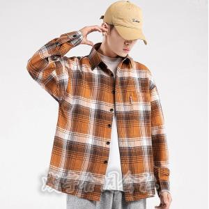 チェックシャツ カジュアルシャツ メンズ 長袖シャツ 開襟シャツ ボダンダウンシャツ トップス ワイシャツ ビジネス 通勤 コーデ 大きいサイズ 男性用 秋服|seiu