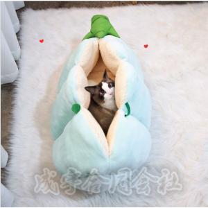 エンドウ ペットベッド 犬ベッド 猫ベッド 犬用品 猫用品 クッション ふわふわ 柔らかい 寝袋 シンプル 可愛い ペットハウス 洗える 冬用 おしゃれ seiu
