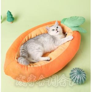にんじん 犬ベッド 猫ベッド 犬用品 猫用品 ベッドクッション 犬 猫 花 柔らか ふわふわ ボリューム 厚手 防寒 暖かい ペットソファ 寝床 ドッグベッド 洗え seiu